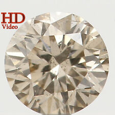 Natural Loose Diamond Round SI2 Clarity Brown Color 3.50 MM 0.16 Ct L4294
