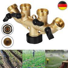 """4-Wege Wasserverteiler Messing-Gartenschlauch Gardena Wasserhahn Verteiler 3/4"""""""