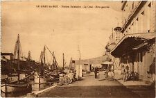 CPA  Le Grau-du-Roi - Station Balnéaire - Le Quai - Rive gauche (458652)