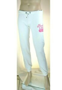 Pantaloni Tuta Uomo Sport FRANKLIN & MARSHALL Made in Italy Bianco SA681 Tg L