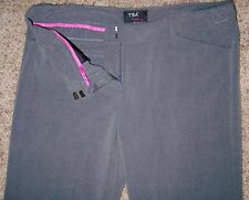 size 11 Womens Jrs Low Rise Dress Pants T.B.A. The Shag, Gray Stretch Flat Front