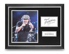 Brian Johnson Signed 16x12 Framed Photo Display AC/DC Autograph Memorabilia COA