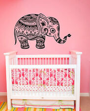 Wall Decal Vinyl Sticker Mural Baby Elephant Ganesga Mandala Tribal  r1098