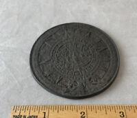 Vintage Aztec Calendar And Sun Decorative Coin Souvenier Mexico