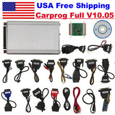 USA Ship Carprog Full V10.05 Version with 21 Adapters Airbag Reset Function