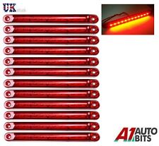12X Red 12 LED 24V Rear Tail Side Marker Lights Lamps For Man Daf Scania Volvo