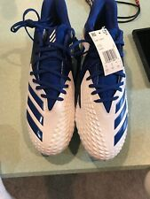 1da526728ba Adidas Freak X Carbon Low Football Cleats Mens Size 12.5 White And Blue