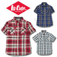 Boys Shirts Lee Cooper Short Sleeve Tops Kids Junior Age 7 8 9 10 11 12 13 Yrs