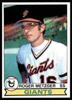 1979 TOPPS BASEBALL SET BREAK ROGER METZGER SAN FRANCISCO GIANTS #167