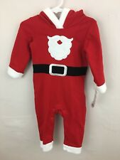 NWT Baby Cat & Jack 1 pc outfit Christmas little Santa outfit bearded 6-9 months