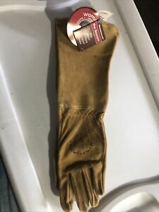 Women's All Leather Gauntlet Glove Small- Made In USA