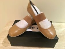 BRAND NEW METRO LEATHER MARY JANE BALLET FLATS SHOES SIZE 39M TAN