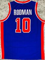 Detroit Dennis Rodman Signed Blue Jersey Auto - BAS Beckett COA