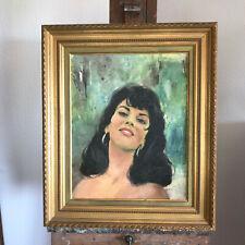 tableau N72 portrait de femme huile sur toile de jules gustave lempereur