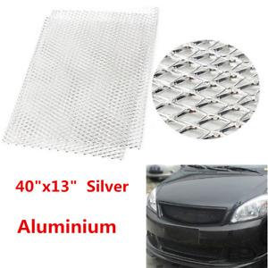 "Silver Aluminium Car SUV Grille Mesh Vent Tuning Grill Rhombus Mesh  40""x13"""