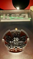POP 18!  2015 Canada $20 1 oz Proof Silver Maple Leaf Shape PCGS PR69DCAM
