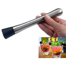 2Pcs Cocktail Bâton Pilon Acier Inox Mixer Bar Pr Mojito Drink Cuisine Bricolage