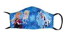 Kids Washable/Reusable Frozen Face Mask Wt Filter Pocket-Disney-Girls-Made In US