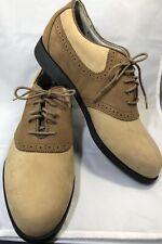 Rockport Jack Nicklaus Mens Golf Shoes Brown Saddle Size 9.5 9-1/2