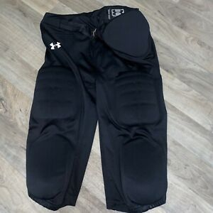 Under Armour Integrated Padded Black Football Pants Youth XL 7 Pads
