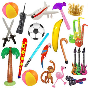 Pack Of 25 Assorted Inflatables Party Decoration Prop Fancy Dress Photo Booth