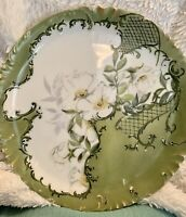 ANTIQUE HAVILAND LIMOGES 1895 Hand Painted Signed Dated Plate Platter 11.25""