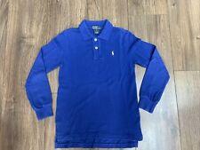 Boys Ralph Lauren Long Sleeve Blue Polo Shirt - 7