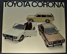 1972 Toyota Corona Catalog Sales Brochure Excellent Original 72