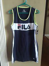 Womens Fila Sport Dress Navy Blue Neon Tennis Athletic Size Small - NWT