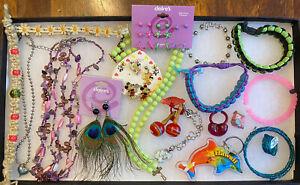 Large Bulk Lot Kids Costume Jewelry,Necklace's,Bracelets,Rings,Kids Play Jewelry