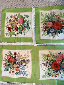 vintage material NOS fabric heavy vintage fabric 2 plus yards sewing notions, vtg floral fabric yardage fabric craft material