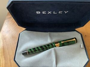 Bexley Ebonite Collection Green Agate Fountain Pen New and Boxed