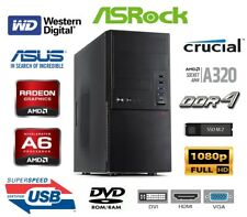 Office/Multimedia PC, AMD A6-9500 3.50GHz, 500GB SSD M.2, 16GB RAM, Radeon R5