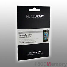 Mercury AV Screen Protector for Apple iPhone 4 4S 3Pack Front + Back Clear Film