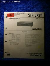 Sony Service Manual STR GX311 Receiver (#0144)