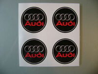 4x 55 mm fits audi wheel STICKERS center badge centre trim cap hub  alloy  r