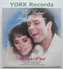 """CLIFF RICHARD & SARAH BRIGHTMAN - All I Ask Of You - 7"""""""