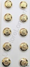 Staff Buttons Military Army Service EІІR Buttons Gold Stay Bright 14mm PK10 R832