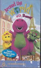PAL VHS VIDEO TAPE :  AROUND THE WORLD WITH BARNEY
