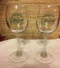 Set of 2 Wine Glasses from The Winery of Hot Springs Stemmed Water Glass