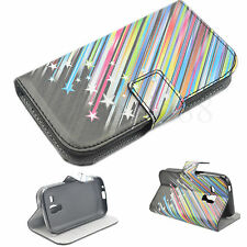 Meteor Flip Phone Leather Card Pocket Case Cover For Samsung Galaxy S Duos S7562