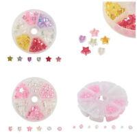 1box Environmental Transparent Poly Styrene Acrylic Bead Mixed Color/Shape