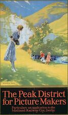 Vintage Rail travel poster  A4 RE PRINT The Peak district for Picture Makers