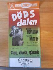 BORDER INCIDENT Anthony Mann film noir Original Swedish '50 movie poster