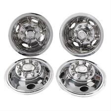 "Wheel Covers CHEVY C3500 PICKUP 16"" 8 Lug Snap On 4 Hole stainless steel new"