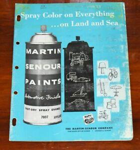 MARTIN SENOUR Automotive Spray Can Paint Chip Brochure Tractor Equipment Vtg 60s