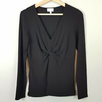 [ WITCHERY ] Womens Black Knot front Top | Size S or AU 10 / US 6