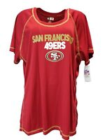 NFL San Francisco 49ers Women's Scoop Neck Tee, Red, Plus SizeS 1x 2x 3x, nwt