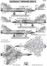 Berna Decals 1/72 DASSAULT MIRAGE 2000-9 French Fighter