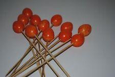 Dekostecker Ostereier 12 Stück in Orange mit Stab 25 cm Blumenstecker Osterdekor